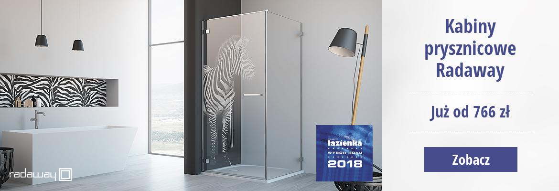 Kabiny prysznicowe Radaway już od 766 zł