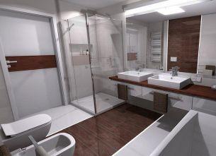 Czysta kabina prysznicowa