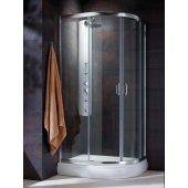 Radaway Premium Plus E 304920101N kabina prysznicowa półokrągła 90x80 cm