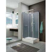 Sanplast Classic II 6020110221014B1 kabina z brodzikiem i zestawem prysznicowym 100x80 cm