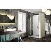 Huppe Solva Pure częściowo w ramie 4-kąt ST0405092322 drzwi prysznicowe