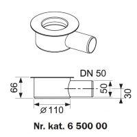 Tece Drainline 650000 kolano odpływowe 9.5 cm