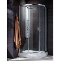 Radaway Premium Plus E 304910101N kabina prysznicowa półokrągła 100x80 cm