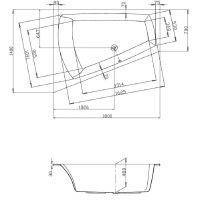 Hoesch Largo 3705010 wanna narożna 180x140 cm
