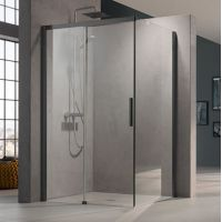 Kermi Nica czarna NID2R/L NITWR110203PK ścianka prysznicowa 110 cm