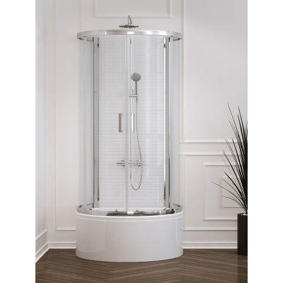 New Trendy Rondo K0274 kabina prysznicowa półokrągła 100x85 cm