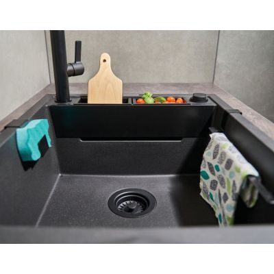 Deante Magnetic ZRMT103 zlewozmywak granitowy 56x50 cm