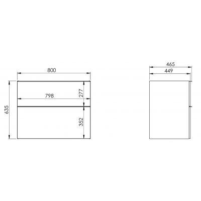 Elita Look 168106 szafka wisząca podumywalkowa 80x45 cm