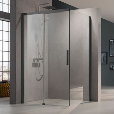 Kermi Nica czarna NID2R/L NID2L120203PK drzwi prysznicowe rozsuwane