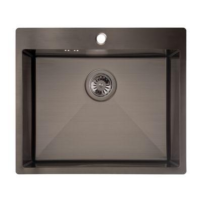 Laveo Marmara SAM510T zlewozmywak stalowy 59x51 cm