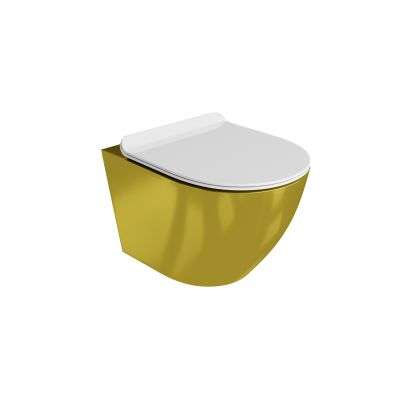 LaVita Sofi Slim Gold/White 5900378319047 zestaw miska + deska wolnoopadająca