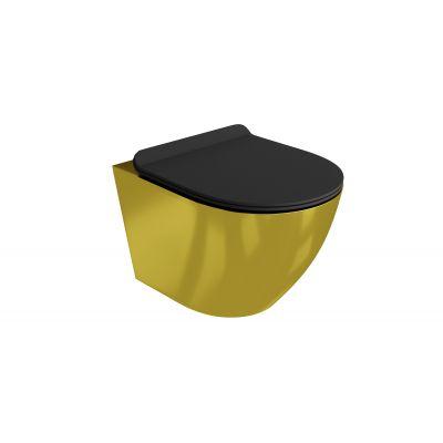 LaVita Sofi Slim Gold/Black 5900378319146 zestaw miska + deska wolnoopadająca