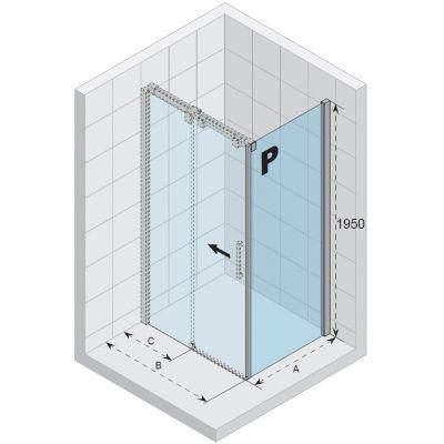 Riho Ocean GU0304102 ścianka prysznicowa 100 cm