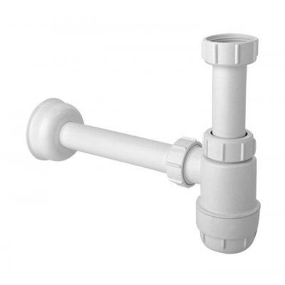 McAlpine HC2 syfon do umywalki butelkowy biały